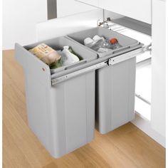 Wesco Pull Out Bin: Big Bio Double Recycler 52L - Binopolis