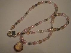 FRESHWATER PEARLS, ANTIQUE SILVER, SWAROVSKI CRYSTAL NECKLACE  FASHION ACCESSORY FROM JEWELERY-AUCTIONED.COM