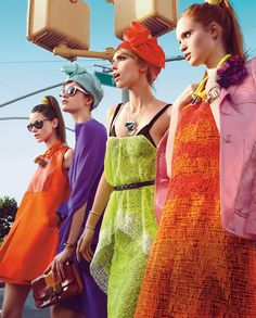 Love! Brights in the maxis, head scarfs, jewels..