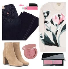 """""""WINTER BOOTS❄️"""" by audreyroset ❤ liked on Polyvore featuring Yves Saint Laurent, tarte, Burberry, True Religion, MAC Cosmetics and Bobbi Brown Cosmetics"""