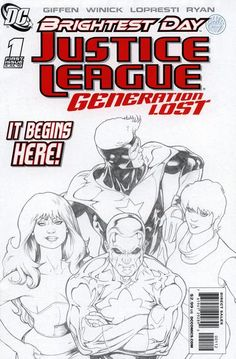 Cover for Justice League: Generation Lost (2010 series) #1 [Kevin Maguire Limited Variant]