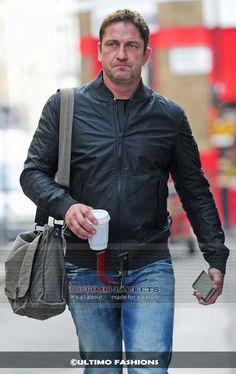 Gerard Butler 2016 (london Has Fallen) Black Genuine Leather Jacket     Jacket Features:   	Material: Pure Genuine leather 	Outfit type: Jacket 	Gender: Male 	Color: Black 	Worn By: Gerard Butler 	Movie: london Has Fallen 2016