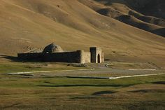 Extremely isolated Silk Road caravanserai in the middle of nowhere