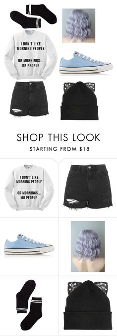 """""""my style (CP RP)"""" by livinglikelaney ❤ liked on Polyvore featuring Topshop, Converse, Monki and Silver Spoon Attire"""