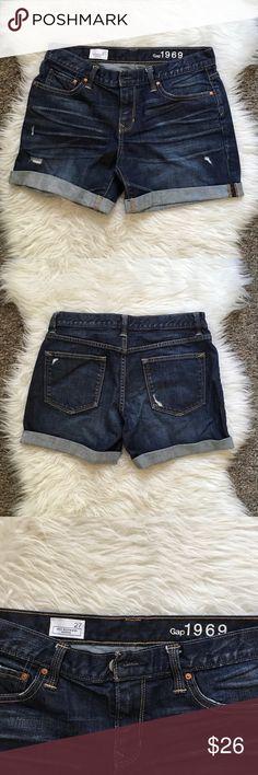 "GAP ""Sexy Boyfriend Shorts"" GAP high waisted distressed boyfriend shorts GAP Shorts Jean Shorts"