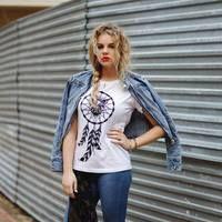 Sowa Owl Pióra Aztec Koszulka Tshirt bawełniany | 39,99zł