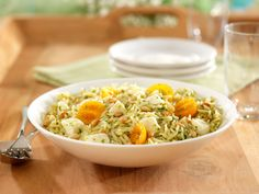 Barilla® Orzo Pasta Salad with Basil Pesto, Cherry Tomatoes & Fresh Mozzarella is an Al Fresco dining sensation. Get the recipe and enter for your chance to win a $3,000 Al Fresco Dining Makeover!