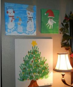 Handprint/footprint Christmas art