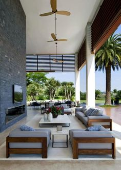 Beautiful California Room Deroration Ideas – Home Decor Modern Outdoor Living, Outdoor Living Rooms, Outdoor Spaces, Living Spaces, Outdoor Kitchens, California Room, Living Room Designs, Pergola, New Homes