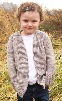 Knit Harvest Cardigan free pattern in baby, child, and adult sizes