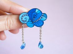 Shrinky Dink material?    Fabulous Hand Illustrated Jewelry from La Cravate Du Chien