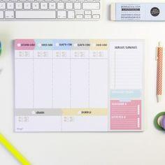 Organizador semanal Handmade (PT) - Organizadores em português - Organizadores e planificadores - Papelaria Planner 2018, Agenda Planner, Study Planner, Day Planners, Weekly Planner, Planner Inserts, Planner Template, Mr Wonderful, Bullet Journal Lined Paper