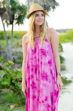 stylish tie dye sundress #style #summerstyle #outfit