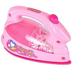 AxiEr Pretend Play Children's Kid's Battery Operated Mini appliances Pink Irons Toys -- You can find out more details at the link of the image.