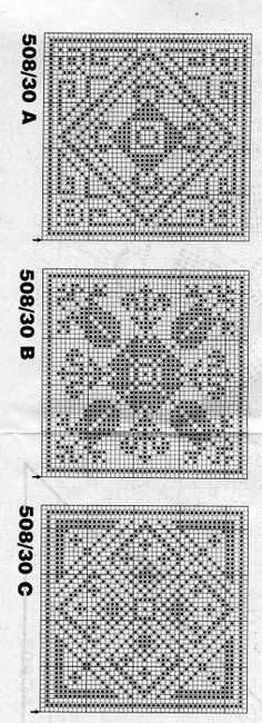 Free Pattern Flower Square in