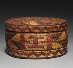 Basket with Raffle Top  --  Before 1929  --  Northwest Coast  --  Tlingit  --  Belonging to the Cleveland Art Museum.