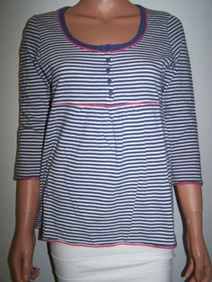 Boden NWT Size US 8 / UK 12 Knit Top ¾ Sleeves Multi Color Stripes  #Boden #KnitTop #Casual