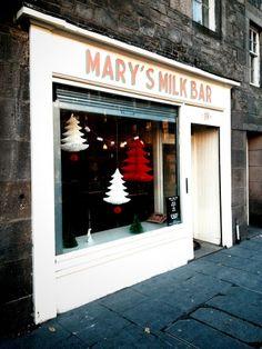Mary's Milk Bar - the best ice cream in Edinburgh! Edinburgh Travel, Edinburgh Scotland, Scotland Travel, Ireland Travel, Scotland Trip, Edinburgh Castle, Scottish Dishes, Scottish Castles, Edinburgh