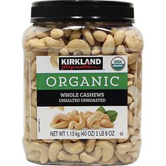 Kirkland Signature Whole Unsalted Cashews 2 lb USDA Organic Steam Pasteurized Unsalted Unroasted Watermelon Nutrition Facts, Whole Food Recipes, Healthy Recipes, Cheap Recipes, Quick Easy Vegan, Health And Nutrition, Nutrition Tracker, Food And Drink, Starbucks Recipes