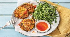 Sweetcorn and haloumi fritters Recipe | HelloFresh