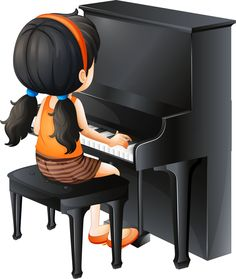 Cartoon Piano Children Play The Piano PNG Transparency Kids Cartoon Characters, Cartoon Kids, Music Images, Music Pictures, Playing Piano, Kids Playing, Music Lessons For Kids, Clip Art, Music School