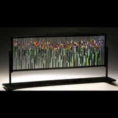 Tulip Field: Ernest Porcelli: Art Glass Sculpture - Artful Home