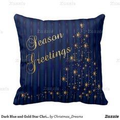 Dark Blue and Gold Star Christmas Tree Throw Pillows ($26) ❤ liked on Polyvore featuring home, home decor, navy home decor, star home decor, gold home accessories, navy blue home decor and gold home decor