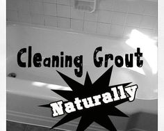 Grout & tub: Grout: Wet the bathtub down, use hand to wipe baking soda into the grout and then I let it sit a few minutes. After that, wet old toothbrush in peroxide and use it to scrub the grout area. It will foam. Tub: 1.Mix 1 part white vinegar and 1 part dish soap in a spray bottle. 2.Spray all over the bathtub. 3.Let sit 20-30 minutes. 4.Wipe down and spray off. 5.Clean tub! | Cute Decor