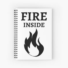 'Fire Inside' Spiral Notebook by RIVEofficial Pin Pin, Profile Photo, The Creator, Online Shopping, Custom Design, Fire, Amazon, Cool Stuff, Creative