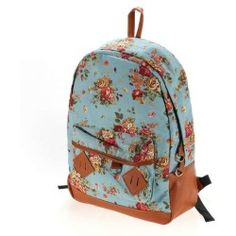 Women Girl Lady Vintage Cute Flower Floral Bag Schoolbag Campus Bookbag  Backpack 5 Colors for Laptop 0d6b670121