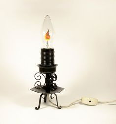 Vintage Night Light Lamp Candle  Soviet Russian by VintageStuffUA