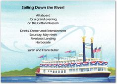 party invitation nautical cruise ship boat banquet pinterest