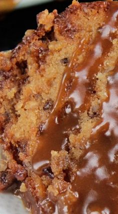 Toffee Pecan Caramel Pound Cake Recipe ~ moist cake bursting with sweet toffee bits, crunchy pecans and rich creamy caramel in every bite.