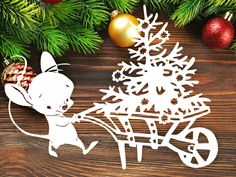 Christmas Paper Crafts, Christmas Projects, Christmas And New Year, Christmas Ornaments, Kirigami, Paper Magic, Wood Carving Patterns, Holidays And Events, Paper Cutting