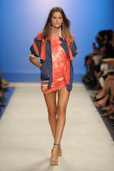 Cool and Sporty Collections from Isabel Marant for Spring 2012: Isabel Marant in sporty blazer and mini dress