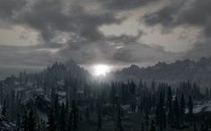 Skyrim features arctic tundra, mountains, and forests.