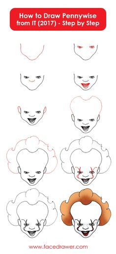 Pennywise the dancing clown is your favourite horror movie character? Learn how to draw Pennywise. Just follow along the easy steps and learn how to draw the scary pennywise.