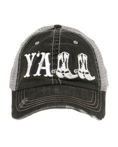 530422a16b02c Katydid Women s Y all Trucker Hat - White Country Girl Style