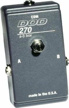 DOD AC270 AB Router Pedal by DOD. $39.99. The DOD AC270 is a simple A/B box. It provides switching from one source, to two destinations, or two sources to one destination. The switching is done via a mechanical push/push switch. Source and destination connections are all unbalanced 1/4 inch jacks.. Save 38%!