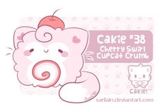 Cherry Swirl Cupcat Crumb claimed by Wife-kun with the 24 hour Patreon advance! I realize this looks a lot like Minibits, but the concept was so PERFECT, I just had to use it!  What happens no...