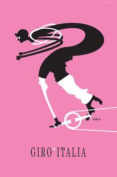 Giro d'Italia Cycling Art Print - VALENTI