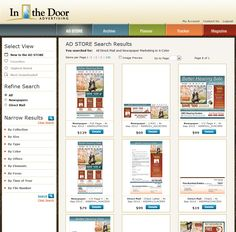 Custom Ad Store - client customers can purchase direct mail and newspaper ads directly online.