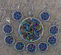 Moorish Rose Set in niobium