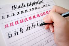 Free Brush Lettering Practice Sheets: Lowercase Alphabet - Amy Latta Creations