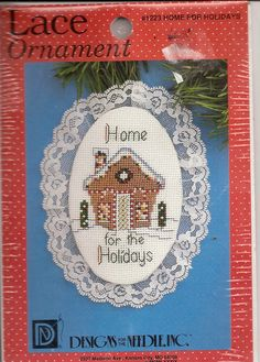 Designs for the Needle Lace Ornament Kit Home For the Holidays No 1223 New