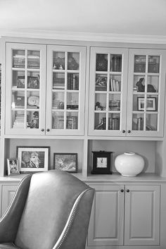 bookcase detail...I like my bookcases to have glass doors, and cupboards below.