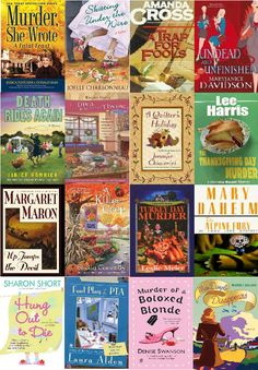 Thanksgiving cozies - fun cozy mysteries around this popular holiday  http://www.mysterysequels.com/thanksgiving-themed-mysteries.html