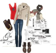 """""""Brown and Red"""" by hayleejade3 on Polyvore"""