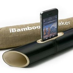 Electricity-free iPhone speaker uses bamboo to enhance your tunes