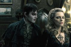 "Johnny Depp, Michelle Pfeiffer in ""Dark Shadows"""